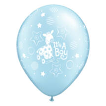 11 inch-es It is A Boy Soft Giraffe Pearl Light Blue Lufi