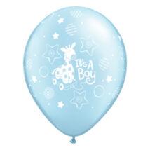 11 inch-es It is A Boy Soft Giraffe Pearl Light Blue Lufi