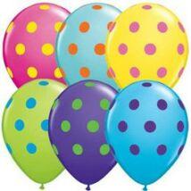 11 inch-es Big Polka Dots Colorful Special Assortment Lufi