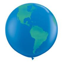3 Feet-Es Globe Dark Blue Földgömb Lufi