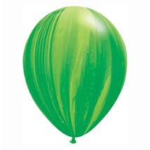11 Inch-Es Green Rainbow SuperAgate Kerek Latex Lufi