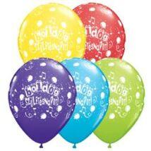16 inch-es Boldog Születésnapot Assorted Születésnapi magyar feliratos printelt Léggömb