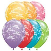 11 inch-es Boldog Születésnapot Festive Lufi