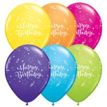11 inch-es Birthday Shining Star Assortment Szülinapi Lufi