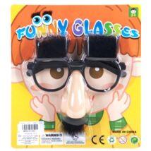 Szemüveg álarc szemöldökkel, bajusszal