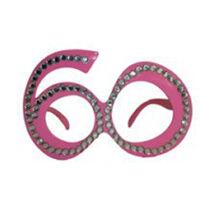 Rózsaszín 60-as Szülinapi Parti Szemüveg