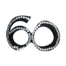 Fekete 60-as Szülinapi Parti Szemüveg