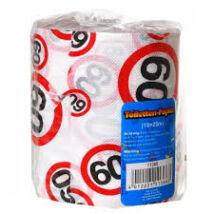 Születésnapi WC papír számos sebességkorlátozós