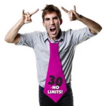 30-as No Limits! Feliratos Születésnapi Party Nyakkendő