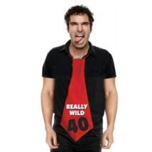 40-es Really Wild 40 Feliratos Születésnapi Party Nyakkendő