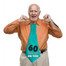 60-as 60 Looks Good On You! Feliratos Születésnapi Party Nyakkendő