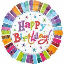 Radiant Happy Birthday Jumbo Szülinapi Fólia Léggömb
