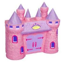 Rózsaszín Hercegnő Kastély Parti Pinata Játék