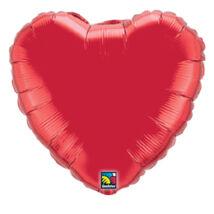 36 inch-es Rubinvörös - Ruby Red Szív Fólia Lufi