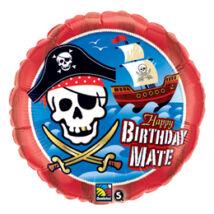 18 inch-es Kalózhajó - Birthday Mate Pirate Ship Születésnapi Fólia Léggömb