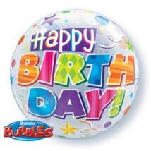 22 inch-es Birthday Party Minták Születésnapi Bubble Léggömb