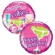 18 inch-es Birthday Forget the Cake Születésnapi Fólia Léggömb