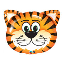 30 inch-es Tickled Tiger - Tigris Fej Fólia Léggömb