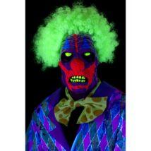 UV fényre világító bohóc maszk