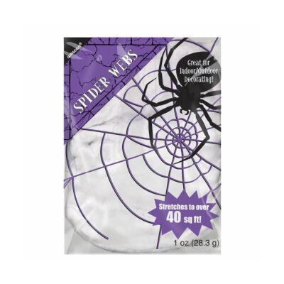 fehér dekorációs pókháló 28g