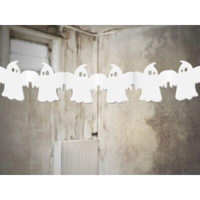 Fehér szellem girland halloweenre