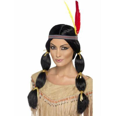 Hosszú fekete indián paróka
