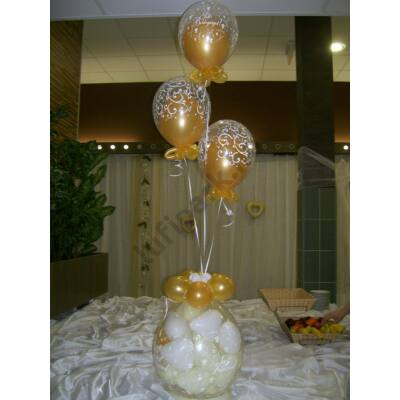 Esküvői csomagolás héliumos lufikkal