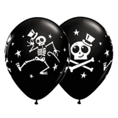 11 inch-es Dancing Skeleton and Top Hat Halloween Black Lufi