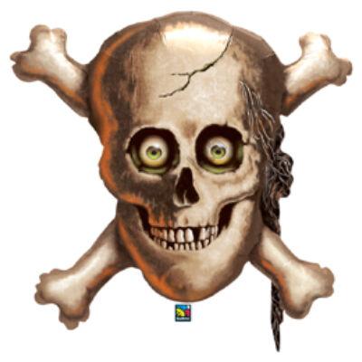 32 inch-es Koponya és Csontok - Skull és Cross Bones Halloween Fólia Lufi