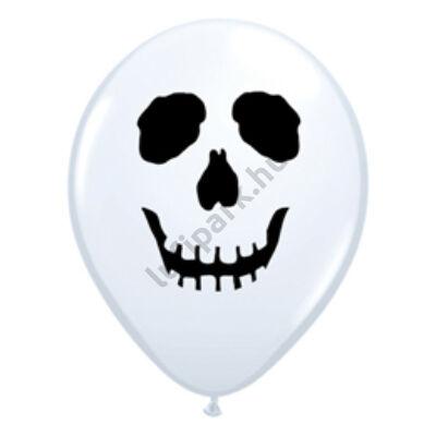 5 inch-es Koponyás - Skull Face White Lufi Halloweenre