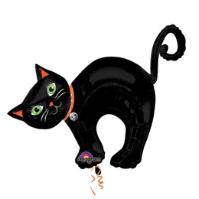 Halloween Cat - Fekete Cica Super Shape Fólia Léggömb