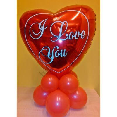 Valentin szívecskés dekoráció I LOVE YOU