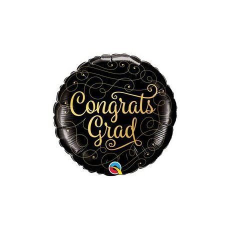 18 inch-es Gratulálok - Congrats Grad Gold Doodles Fólia Lufi