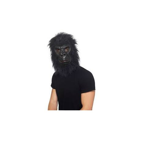Fekete Szőrös Gorilla Maszk