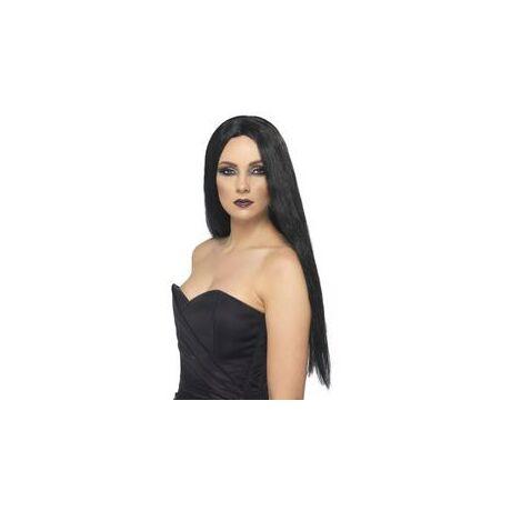 Fekete 61 cm Hosszú Boszorkány Paróka