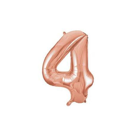 34 inch-es 4 Rozéarany - Rose Gold Számos Super Shape Fólia Lufi