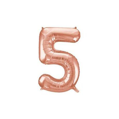 34 inch-es 5 Rozéarany - Rose Gold Számos Super Shape Fólia Lufi