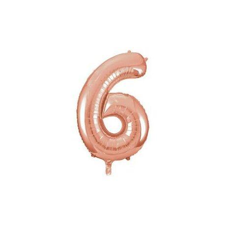 34 inch-es 6 Rozéarany - Rose Gold Számos Super Shape Fólia Lufi