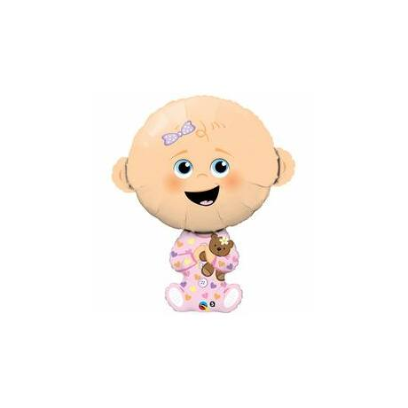 38 inch-es Baby Girl - Kislányos Baba Fólia Léggömb Babaszületésre