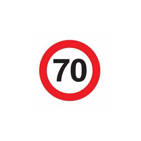 70. Számos Sebességkorlátozó Születésnapi Tábla - 40 cm