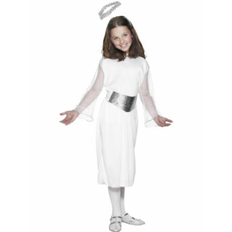 Fehér angyal kislány jelmez M