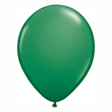 11 inch-es Green (Standard) Kerek Lufi
