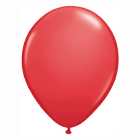 5 inch-es Red (Standard) Kerek Lufi