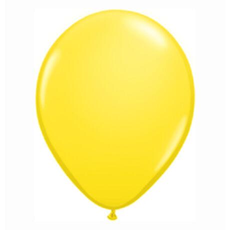 5 inch-es Yellow (Standard) Kerek Lufi
