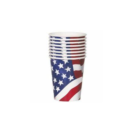 Amerikai zászlós parti pohár- 270 ml, 8 Db-Os