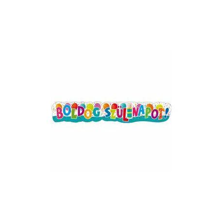 Boldog Szülinapot! Jamboree Karton Dekoráció - 148 cm x 27 cm