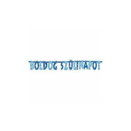 Boldog Szülinapot! Kék Fiús Betűfüzér/Banner Dekoráció - 2,3 m