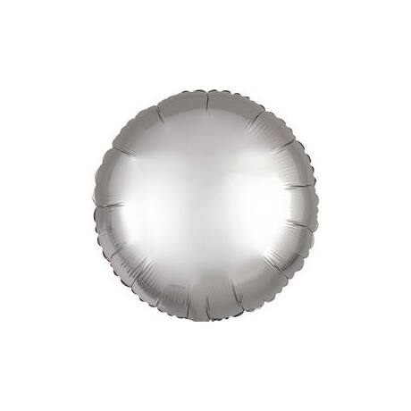 18 inch-es Chrome Ezüst - Silver Kerek Fólia Lufi