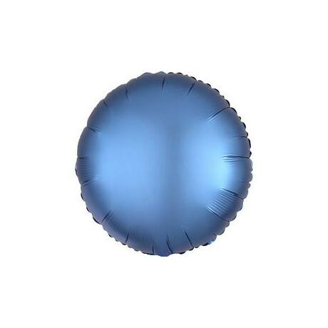 18 inch-es Chrome Kék - Blue Kerek Fólia Lufi