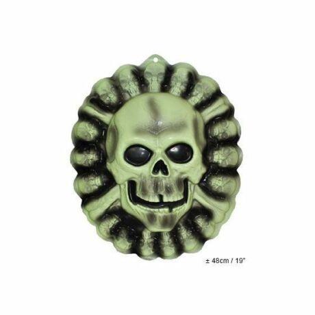 Fluoreszkáló koponya falikép